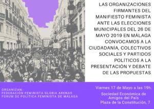 Manifiesto Feminista Elecciones Municipales
