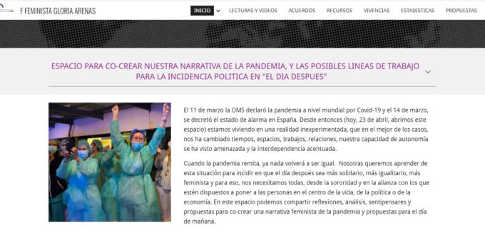 Espacio de co-creación feminista FF Gloria Arenas